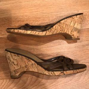 Ann Taylor LOFT slip on cork wedge